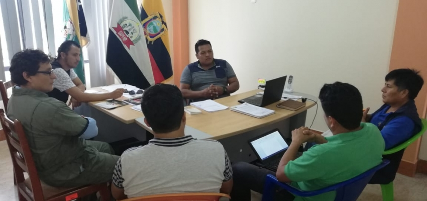 REUNION DEL PRESIDENTE DEL GAD PARROQUIAL CON LOS TECNICOS DE MAG